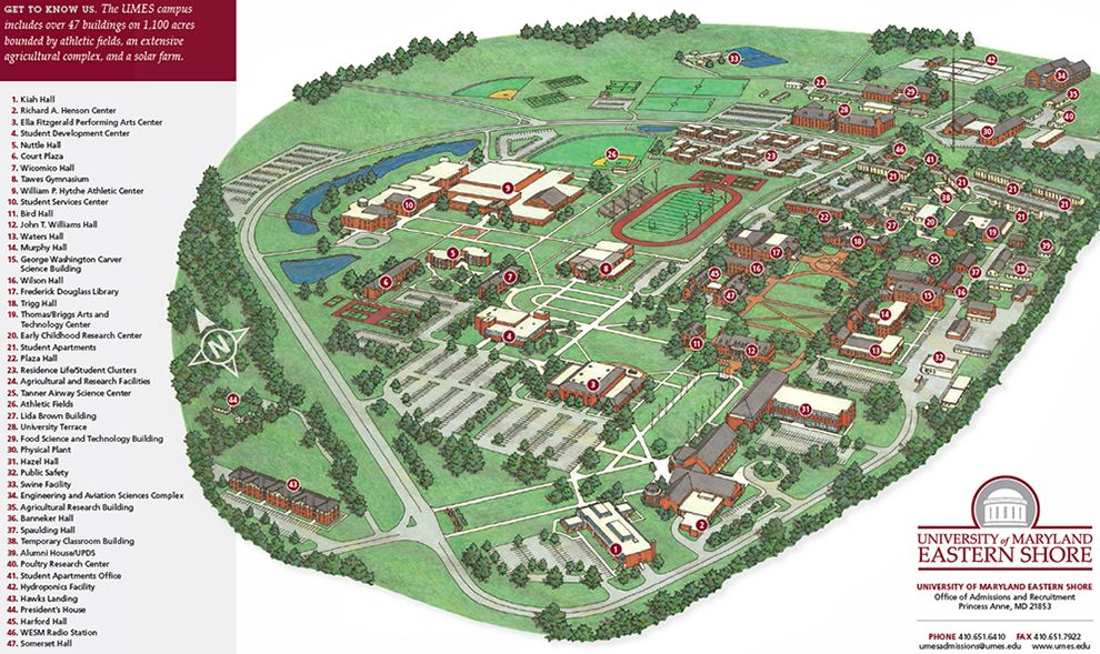 university of md campus map The Umes Campus As Six Dorms For Incoming Freshmen An Outdoor university of md campus map