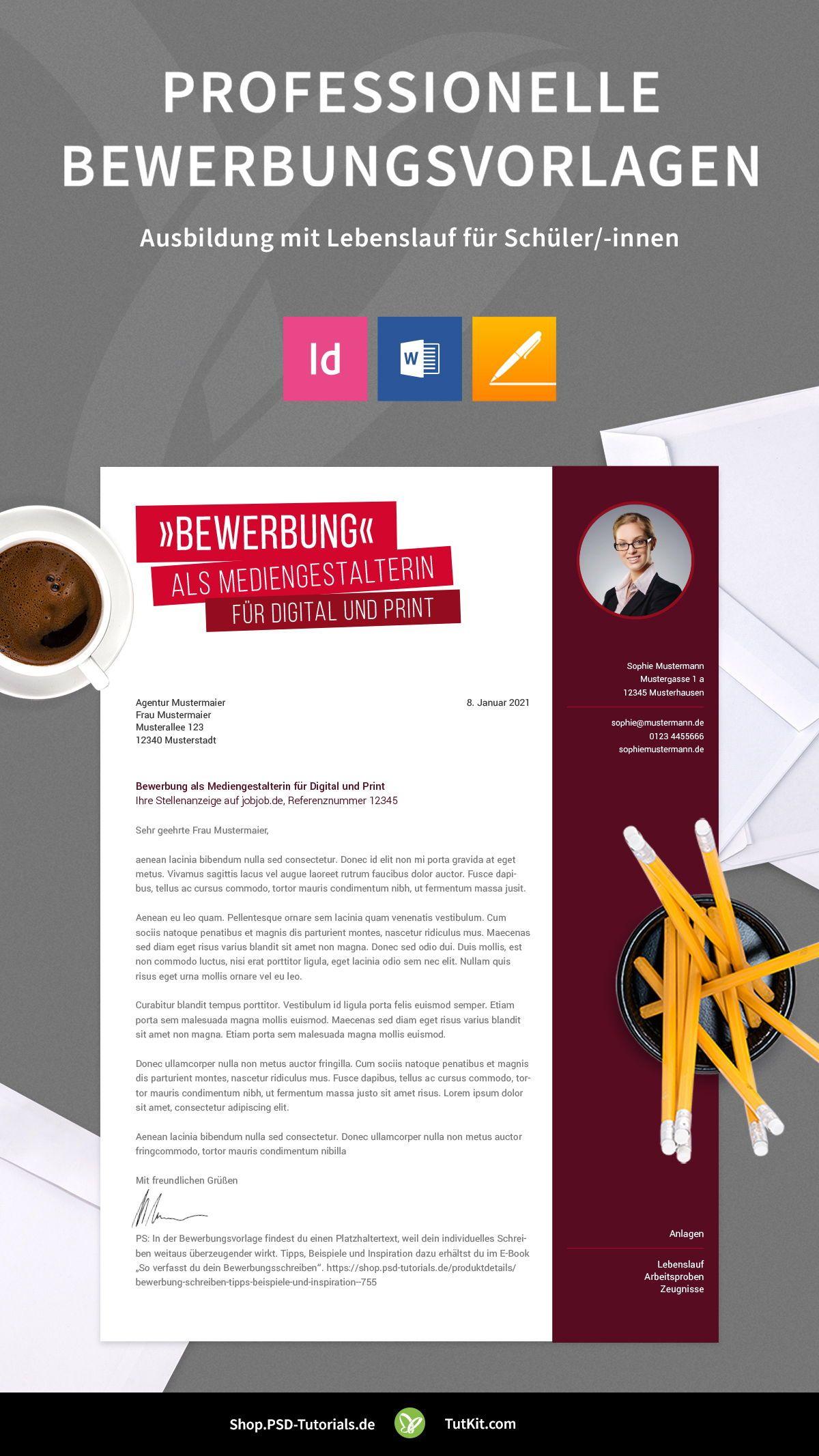 Bewerbung Mediengestalter In Kreatives Design Muster In 2020 Mediengestalter Bewerbung Lebenslauf Bewerbung