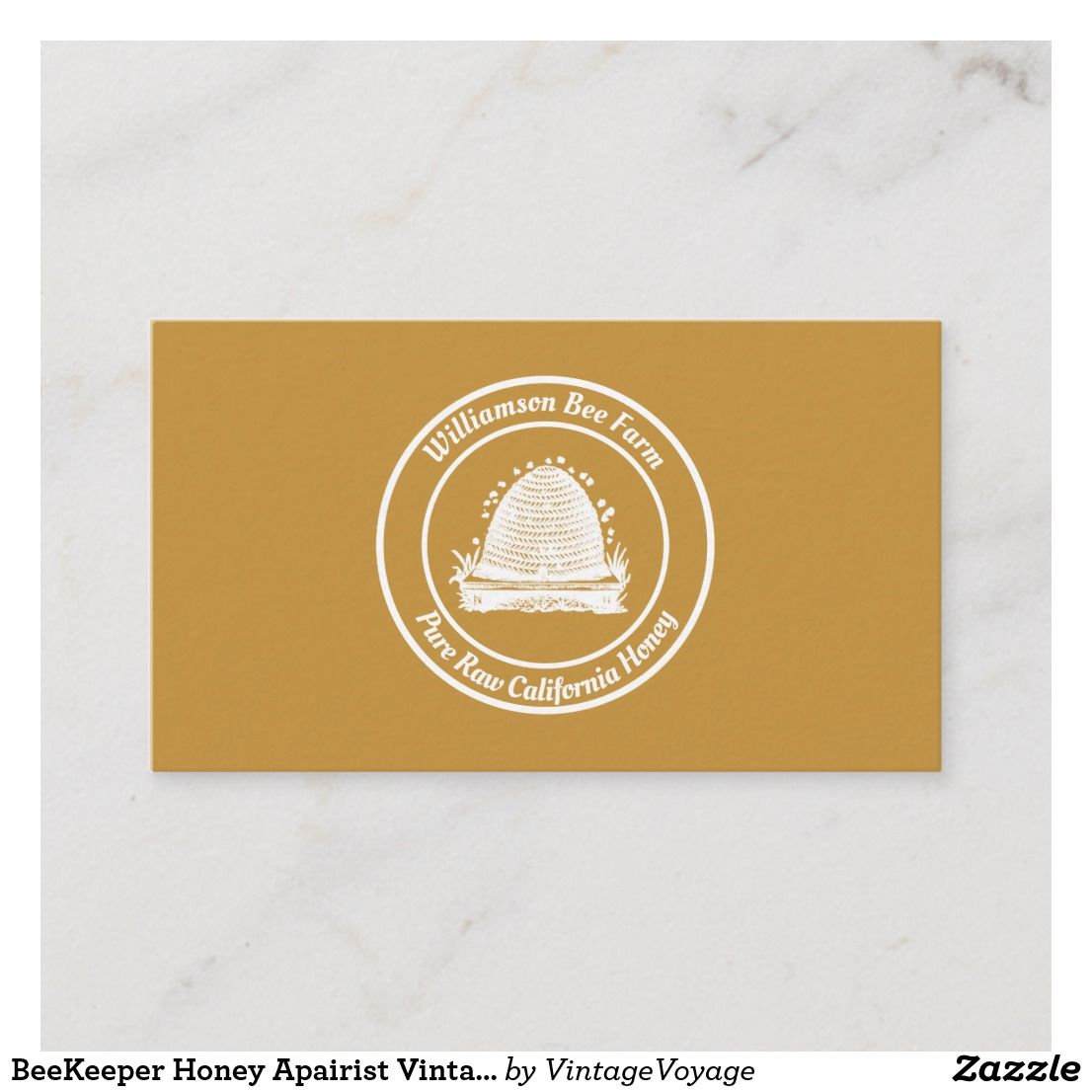 BeeKeeper Honey Apairist Vintage Hive White Design