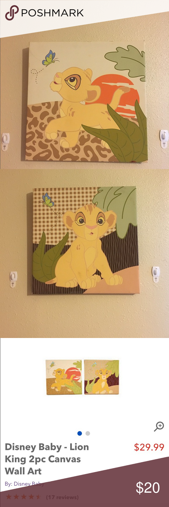 Magnificent Lion King Canvas Wall Art Image - Wall Art Collections ...