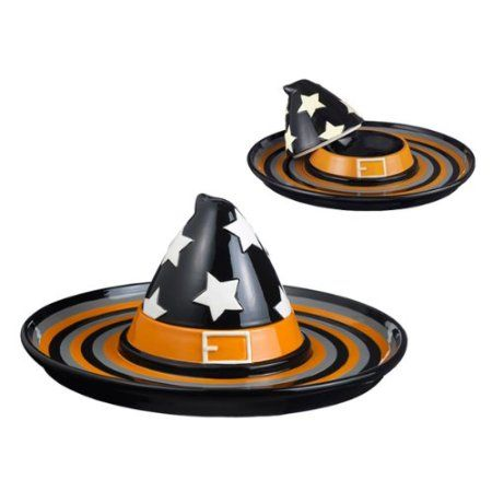 1e55dce5027 Amazon.com  Grasslands Road Monster Mash Witch Hat Covered Chip and Dip  Server  Kitchen   Dining