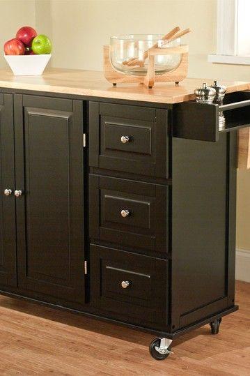 sundance black kitchen cart | hautelook | kitchen drawer