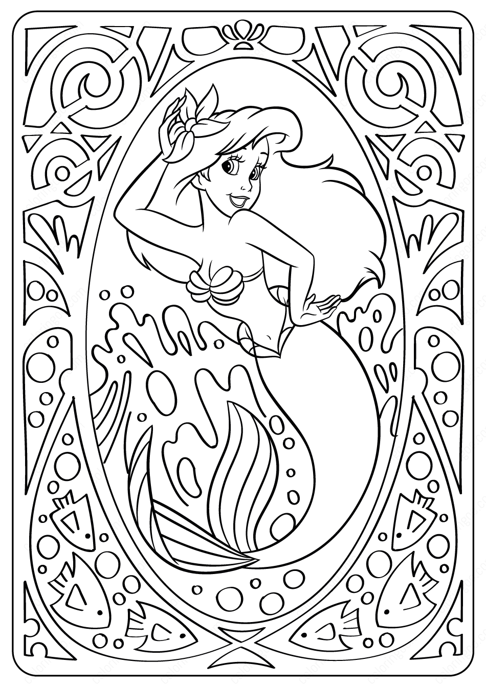 Lovely Ariel Coloring Pages Ariel Coloring Pages Disney Coloring Pages Unicorn Coloring Pages