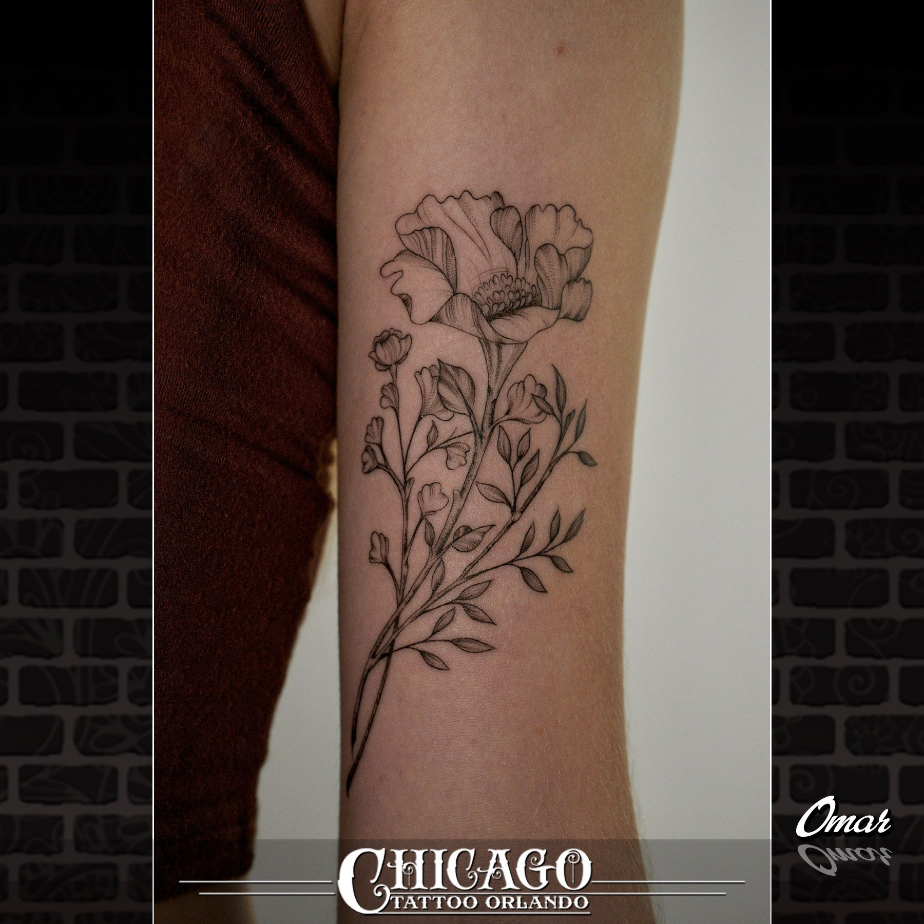 A Poppy Flower For Jocelyn I Love The Details In This Little One Omar Tattoos Best Tattoo Shops Chicago Tattoo