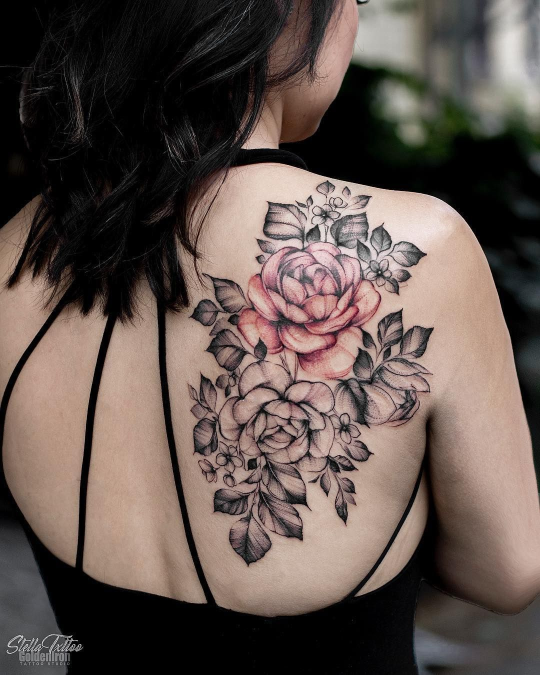 50 Sweet Summer Colorful Flower Tattoo Designs Floral Back Tattoos Colour Tattoo For Women Tattoos