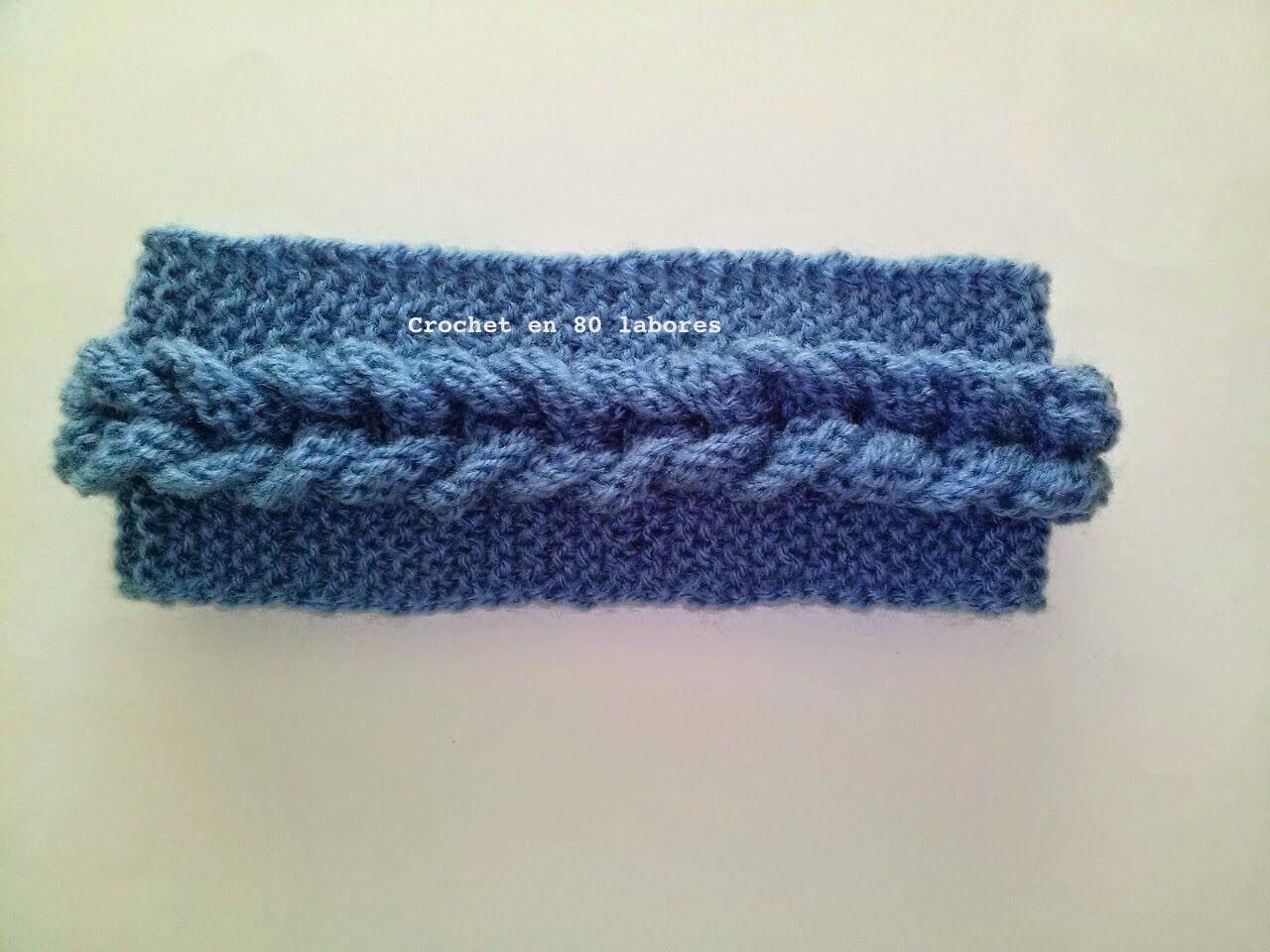 Atractivo Patrón Calentadores Del Oído Crochet Friso - Manta de ...