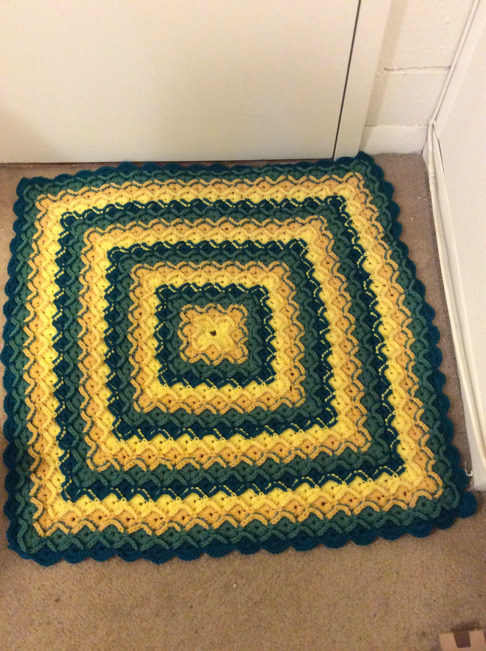 Bavarian Crochet Baby Blanket Finished Pinterest Bavarian
