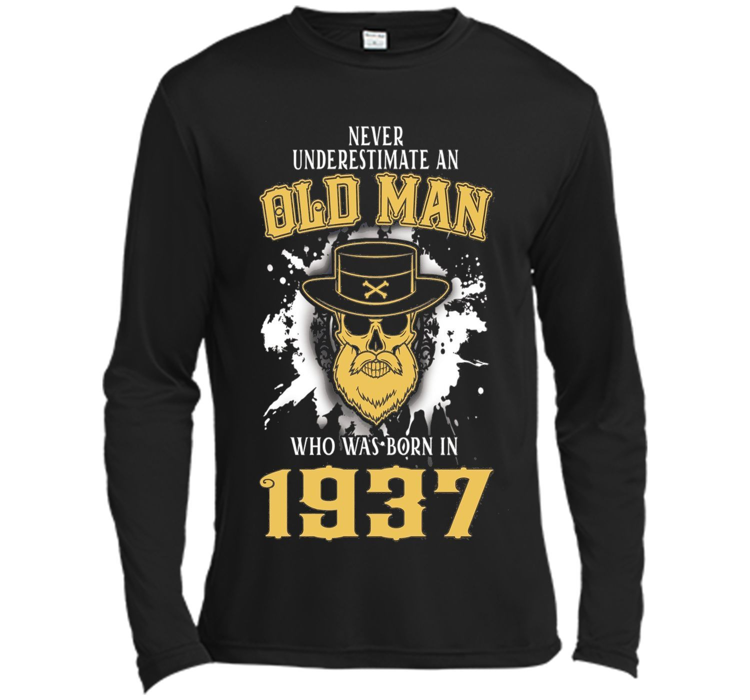 Mens 80th Birthday Gifts Old Man Who Was Born In 1937 T Shirt
