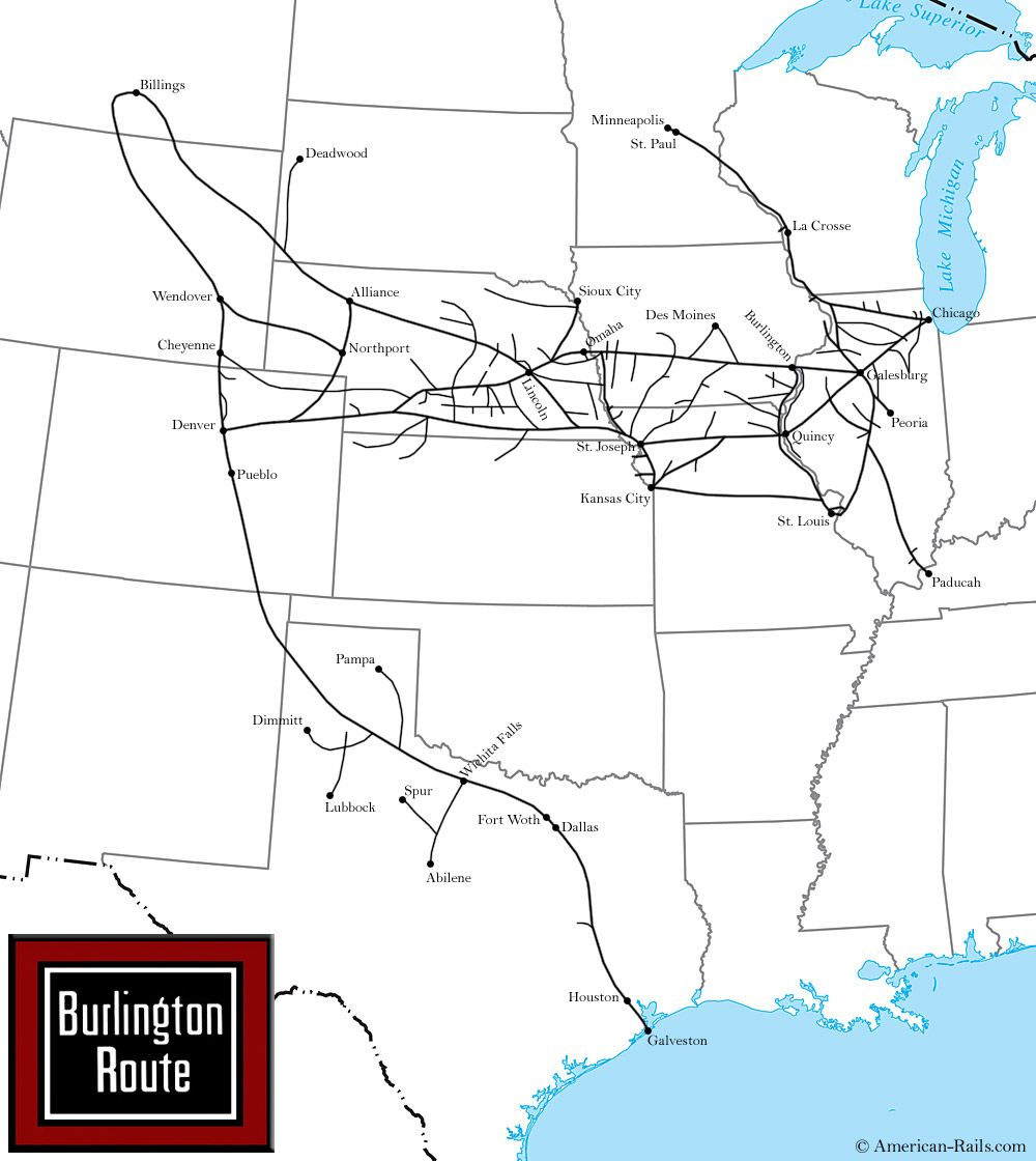The Chicago, Burlington and Quincy Railroad, Way of the