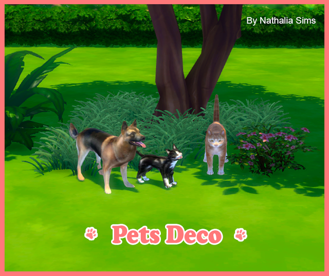 Sims 4 CC's The Best Pets Deco by Nathaliasims