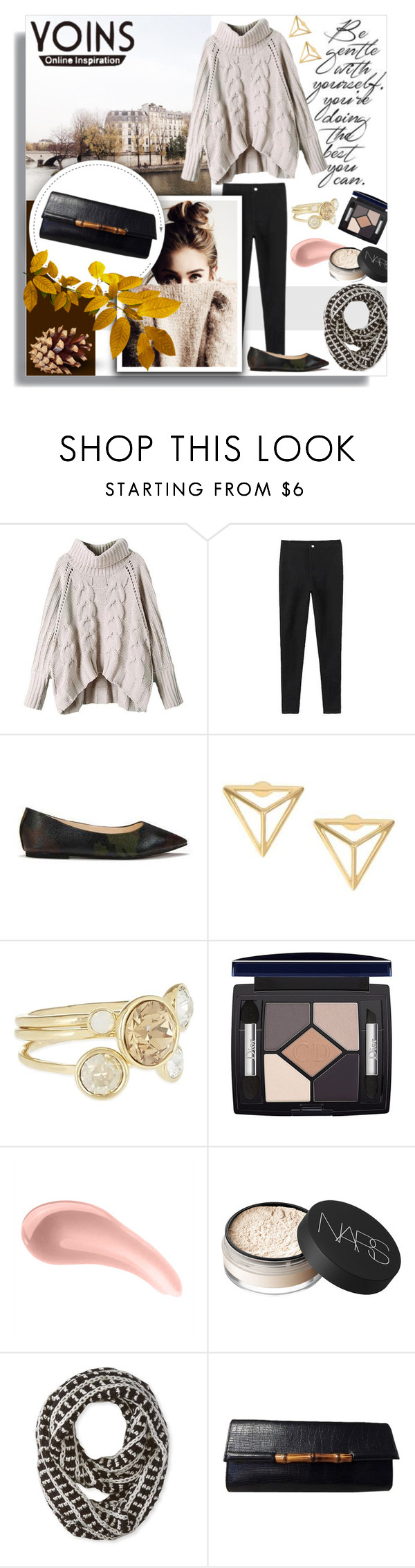 """""""Shop - Yoins"""" by melissa-de-souza ❤ liked on Polyvore featuring Ted Baker, Christian Dior, CARGO, NARS Cosmetics, Big Buddha, Gucci and yoins"""