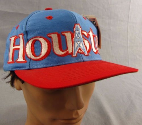 fe45afa5cbc5a Houston Oilers Hat NEW Vintage Snapback Adjustable Ball Cap NWT ...