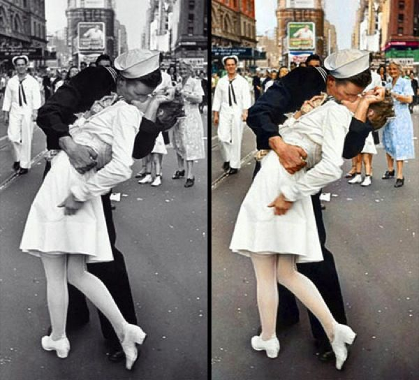 Photography · old famous black white photos have been colorized