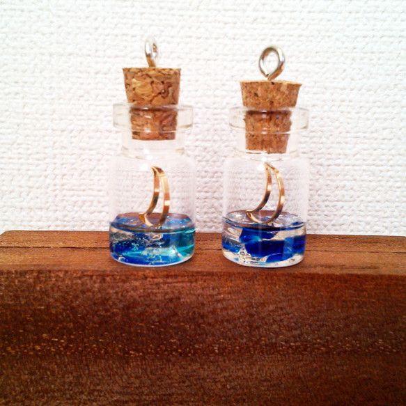 月の出 ストラップ イヤホンジャック レジン 琉球ガラス | 琉球ガラス, ガラス, レジン
