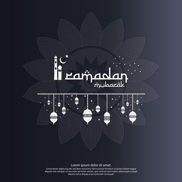 Islamic Design Concept Abstract Mandala With Pattern Ornament And Lantern Element Ramadan Kareem Or Eid Mubarak Greeting Invitation Banner Or Card Background Eid Mubarak Greetings Invitation Banner Ramadan Kareem