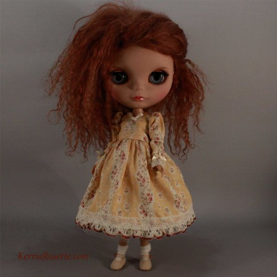 Buttercup Dress for Blythe by KerriaRosette on Etsy, $42.00