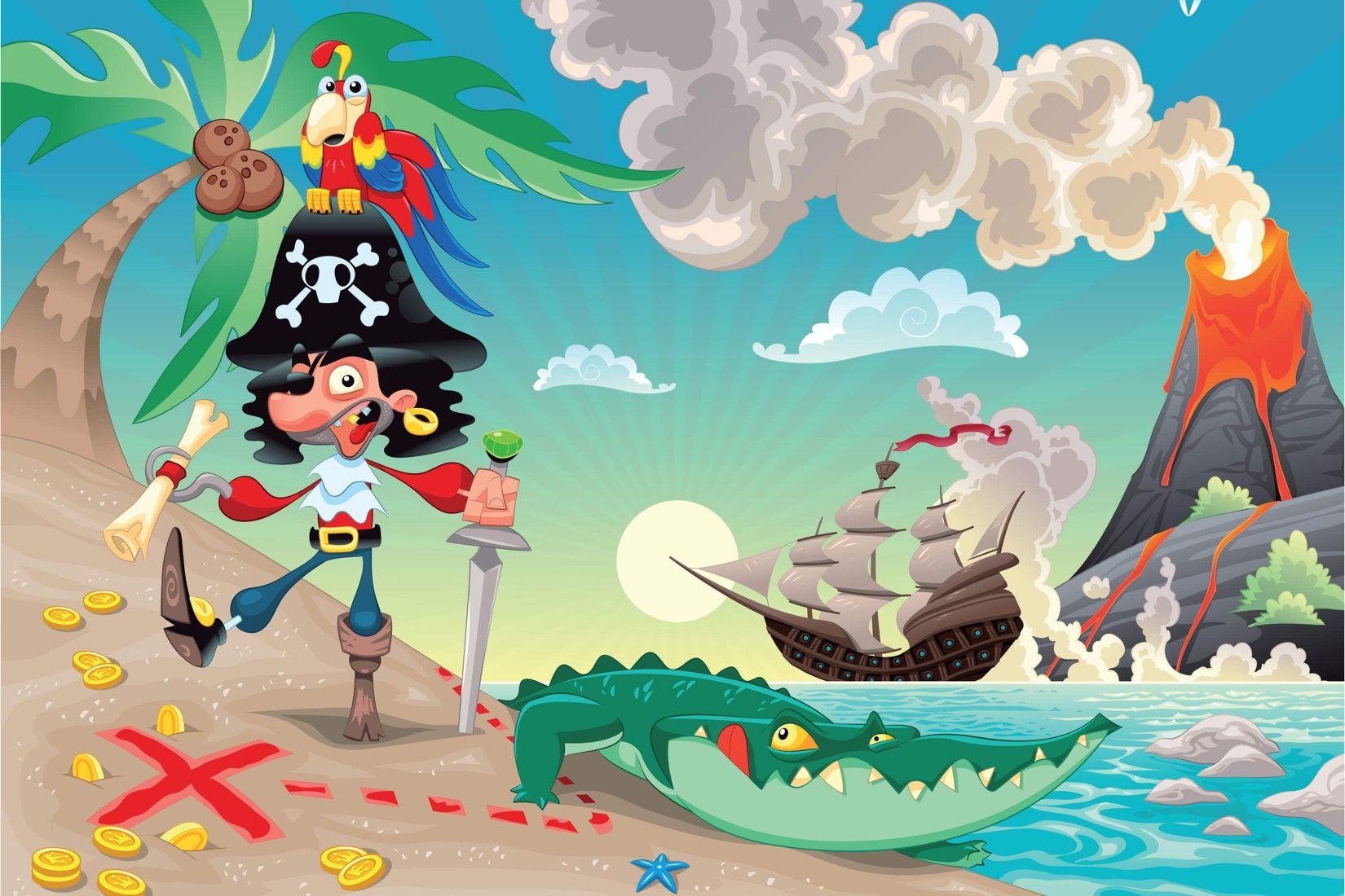 Картинка с пиратом детские, днем рождения