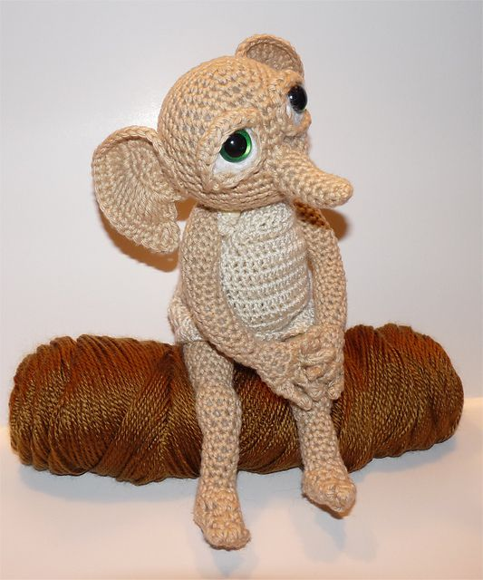 Ravelry  Hobby the House Elf - Cousin to Dobby from Harry Potter pattern by  Britni Husband fe4351c4f11