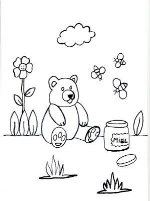 Dibujos para imprimir y colorear de osos 圖片, 上色 | lectura para ...