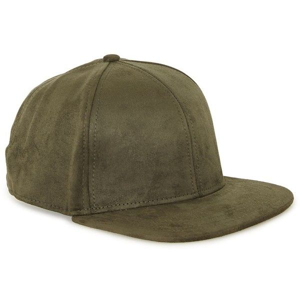 TOPMAN Dark Green Faux Suede Snapback Cap (£15) ❤ liked on Polyvore  featuring men s fashion c6af5a017d6c