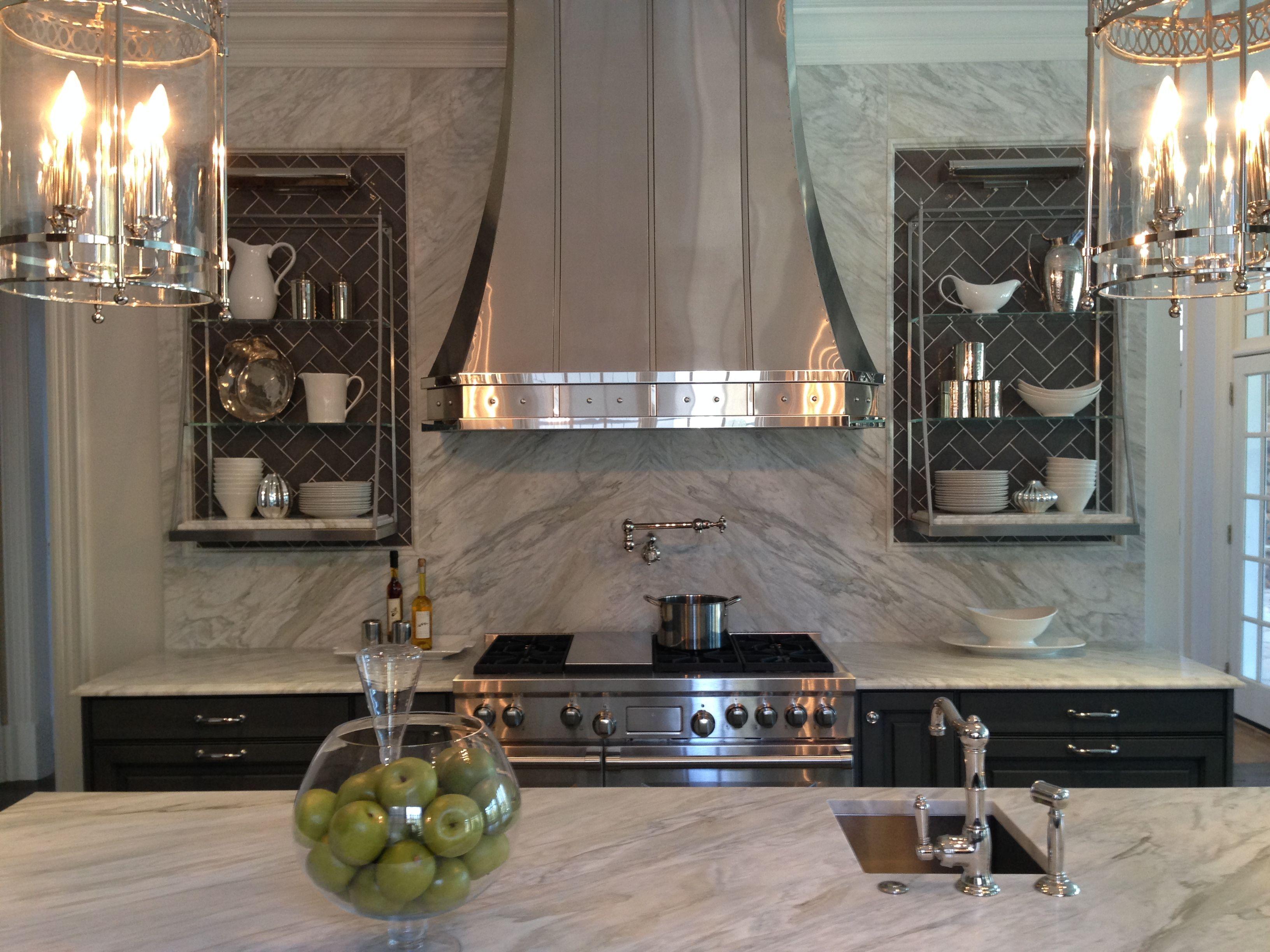 Wall Mounted Custom Range Hood In Mirrored Stainless Steel Zinc Range Hood Kitchen Hood Design Kitchen Hoods