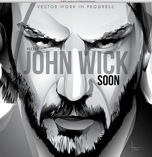 Behance John Wick Vector Tribute Soon By Orlando Arocena John Wick Keanu Reeves Movies