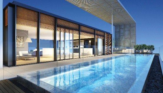 New York Penthouse Swimming Pool Rooftop Terrace Design