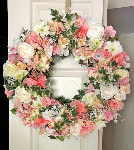 Flower Wreaths For Front Door Summer Wreaths Beautiful