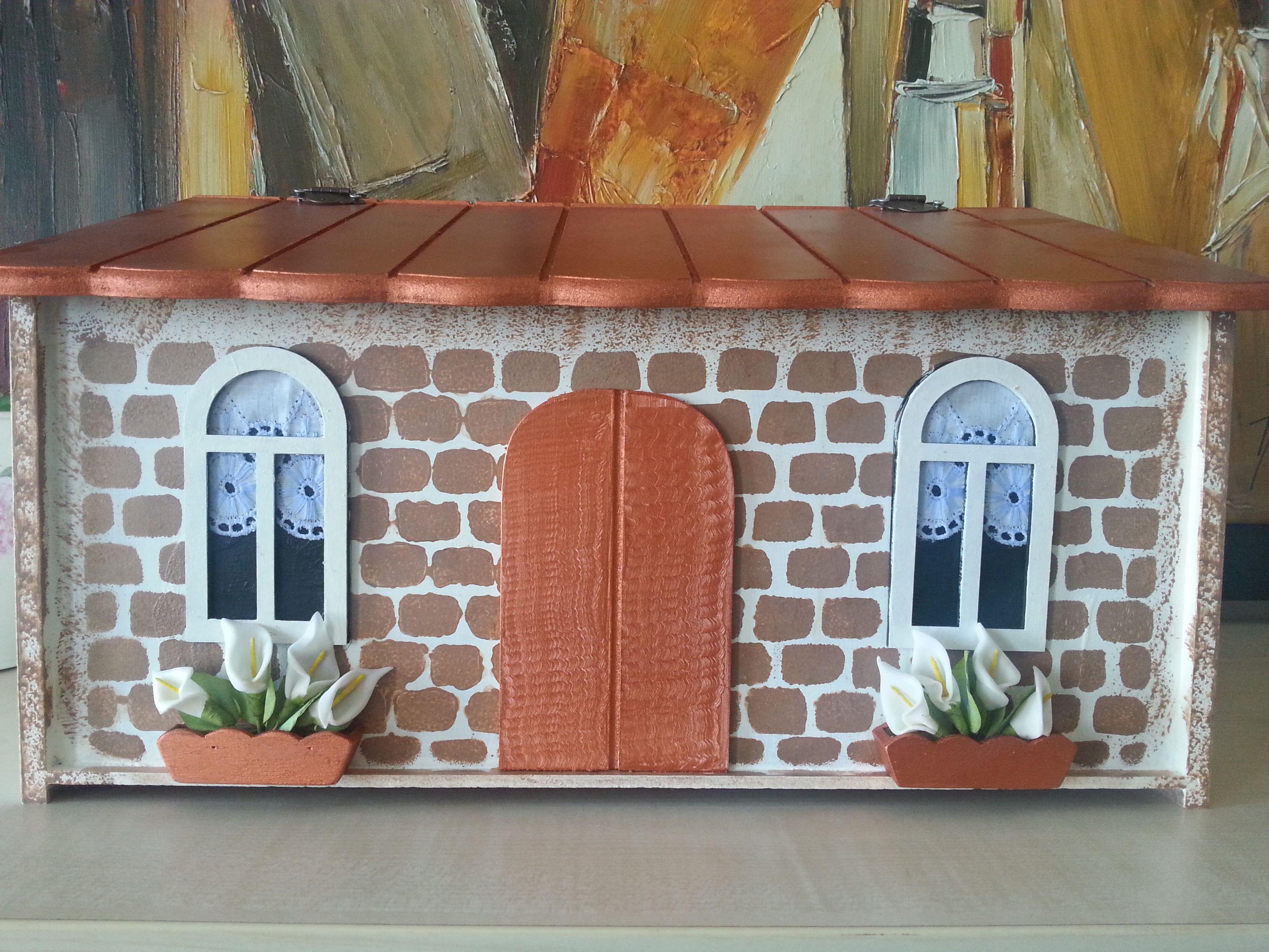 Ahsap Boyama Ekmek Kutusu Renkler Evler Sanat Ve Elisleri