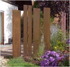 sichtschutz aus einzelstehlen aus cortenstahl sonderanfertigung, Garten dekoo