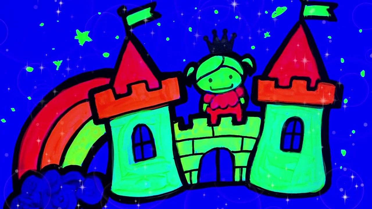 How to Draw a princess and castle Sunny Toy Art in 2020