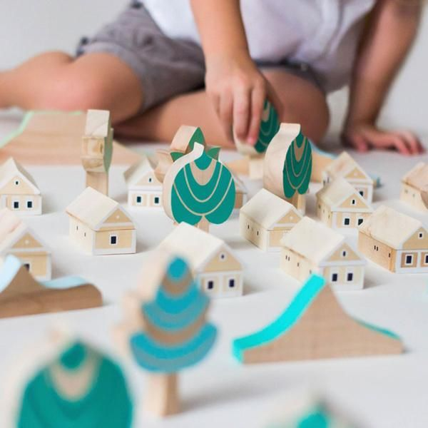 Handmade Eco Friendly Wooden Toy Set Made In Hungary By