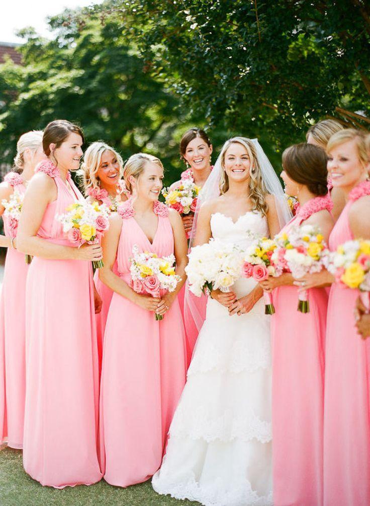 Atractivo Bridesmaids Different Dresses Ideas Ornamento Elaboración ...