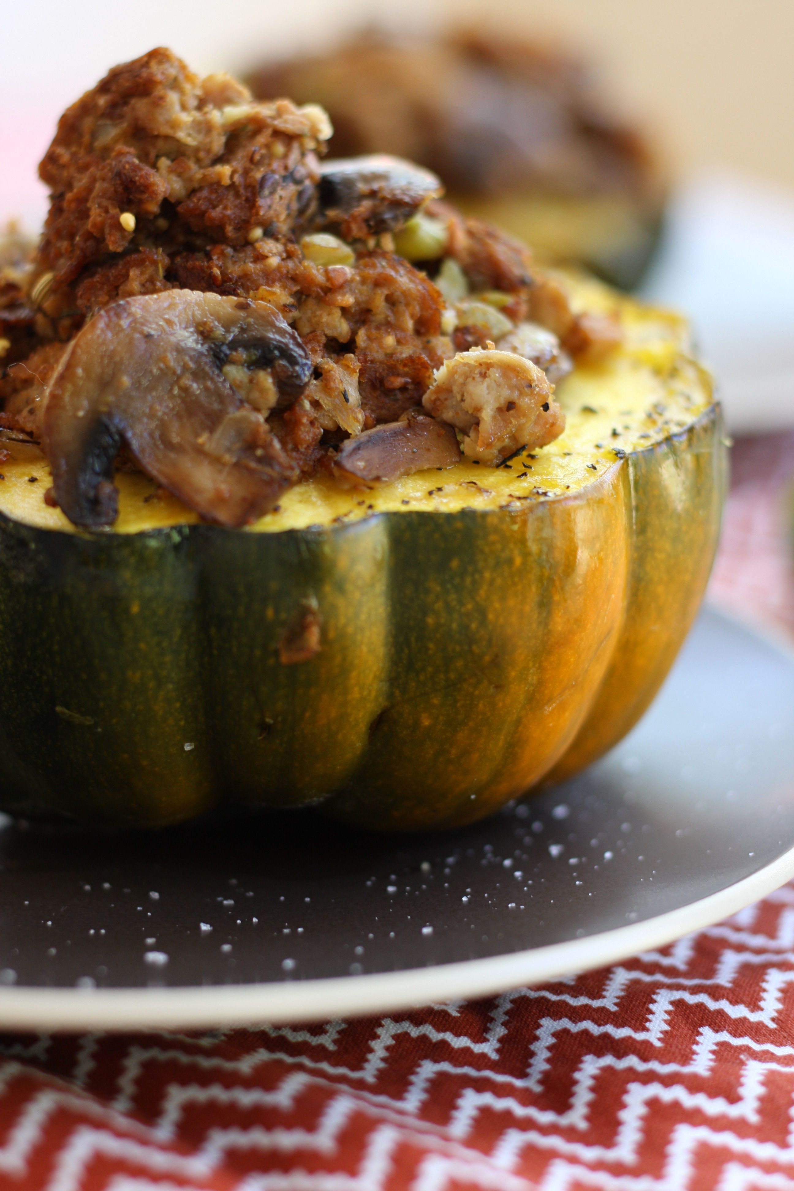 Bread Dressing Stuffed Acorn Squash Recipe Is A Wonderful