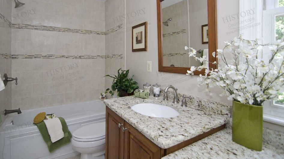 Best Yellow Giallo Sf Real Granite Countertops For Bathroom