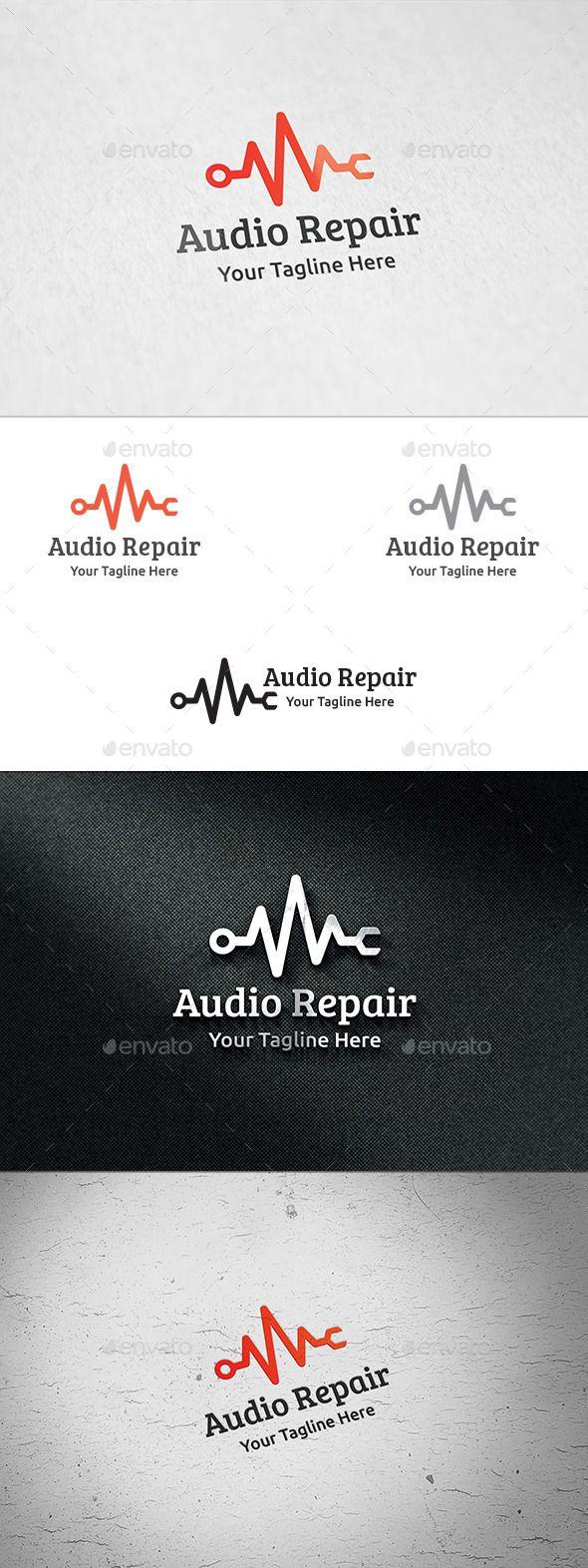 Audio Repair Logo Template u2014 Vector EPS