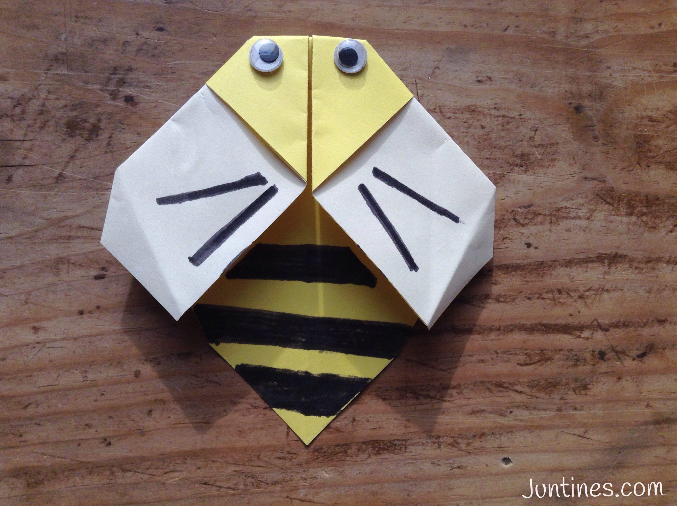 Abeja de papel origami bee origami de animales animales de abeja de papel origami bee origami de animales animales de papel easy jeuxipadfo Gallery