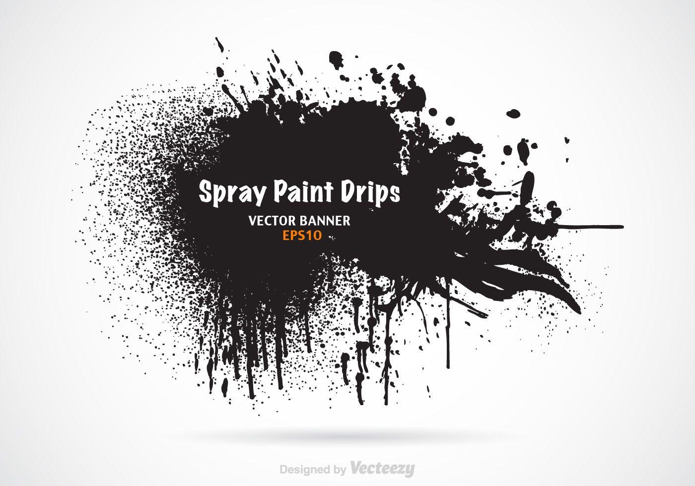 Free Spray Paint Drips Vector Banner Drip Art Drip Painting Vector Art Design