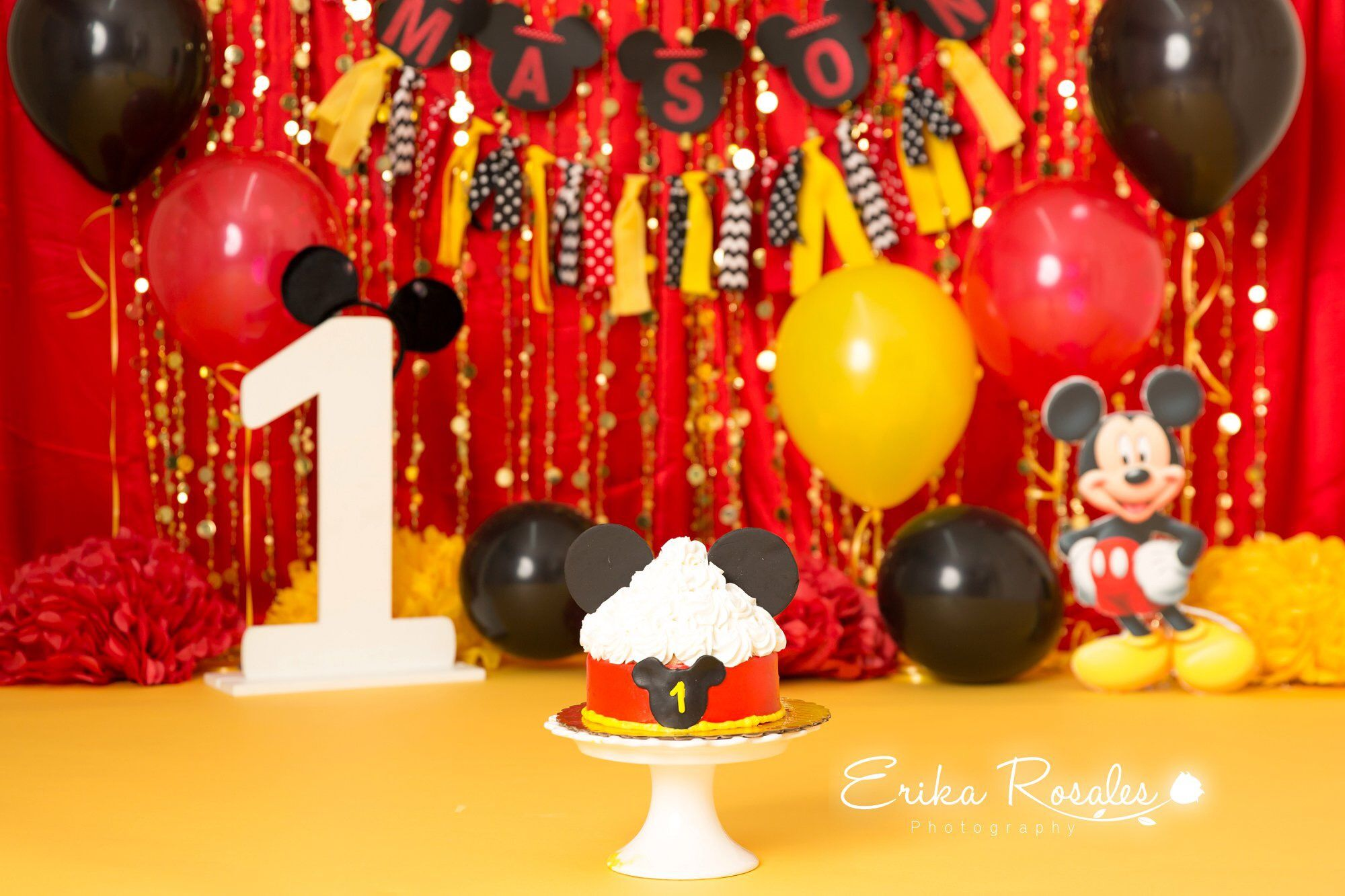 Mickey Mouse Cake Smash First Birthday Smash Cake Mickey Mouse