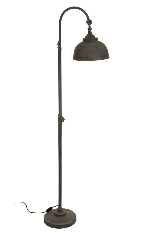 Industrial Styled Rustic Floor Lamp   Allissias Attic U0026 Vintage French Style