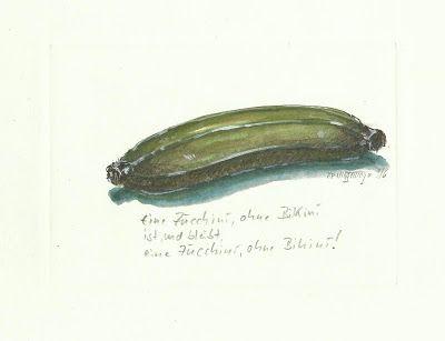 Gemäldemacher . Joachim JORI Niggemeyer: Titel: Der Zucchini...