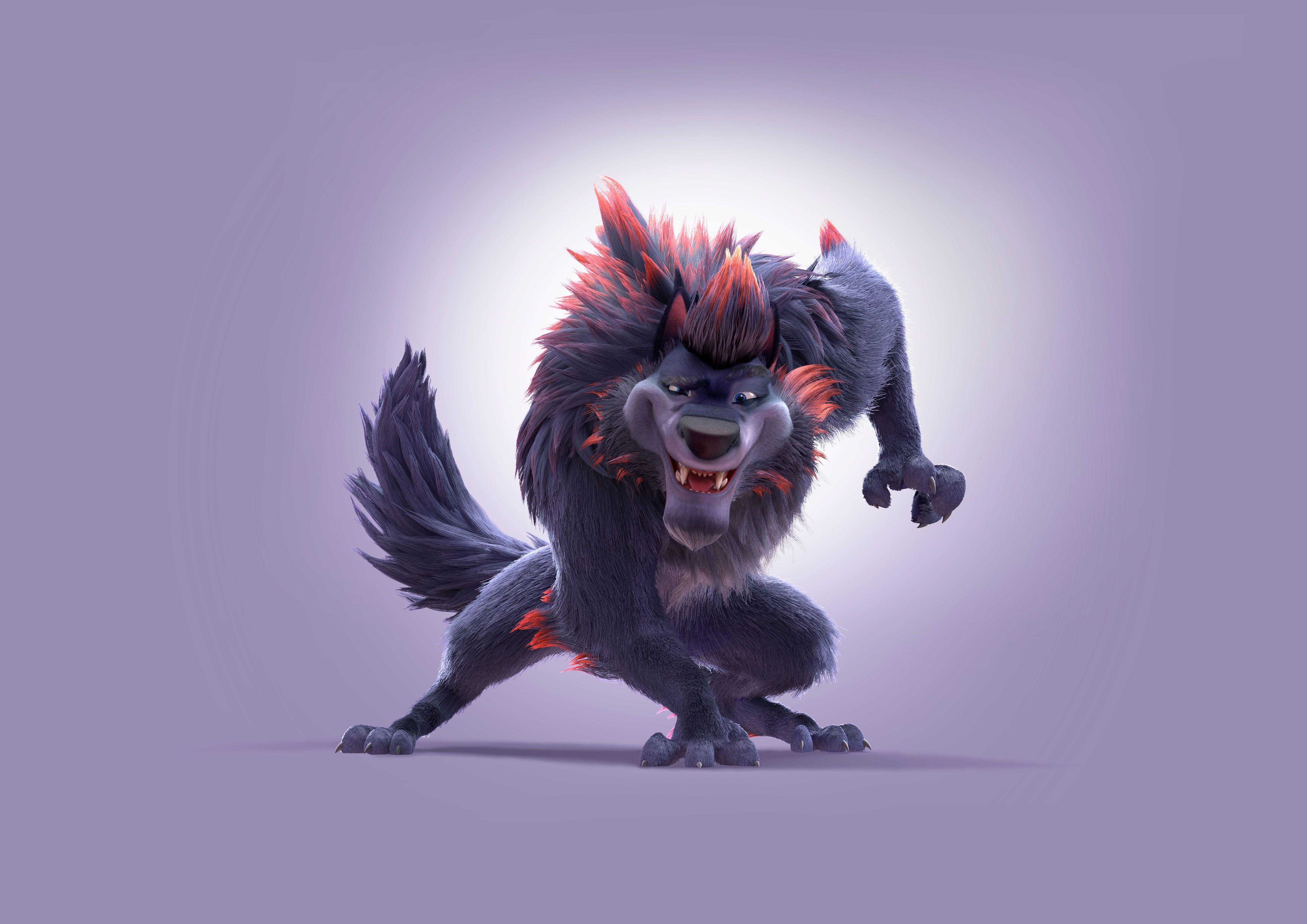 100 Wolf Backdrop V10 Werewolf Wolf Lion Sculpture