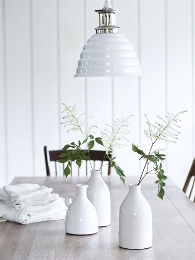 Neptune corinium tall jug white ceramic