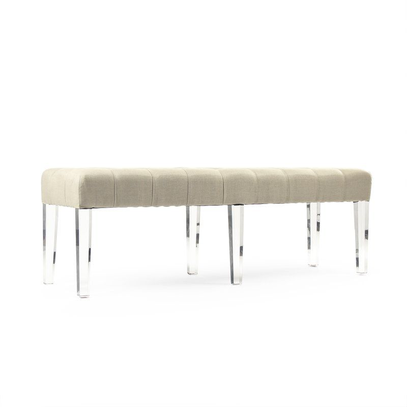 Meline Upholstered Bench Upholstered Bench White Upholstery Upholster