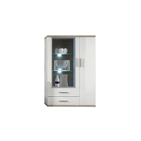 Optez pour un séjour tendance et moderne en intégrant ce vaisselier - plan salon cuisine sejour salle manger