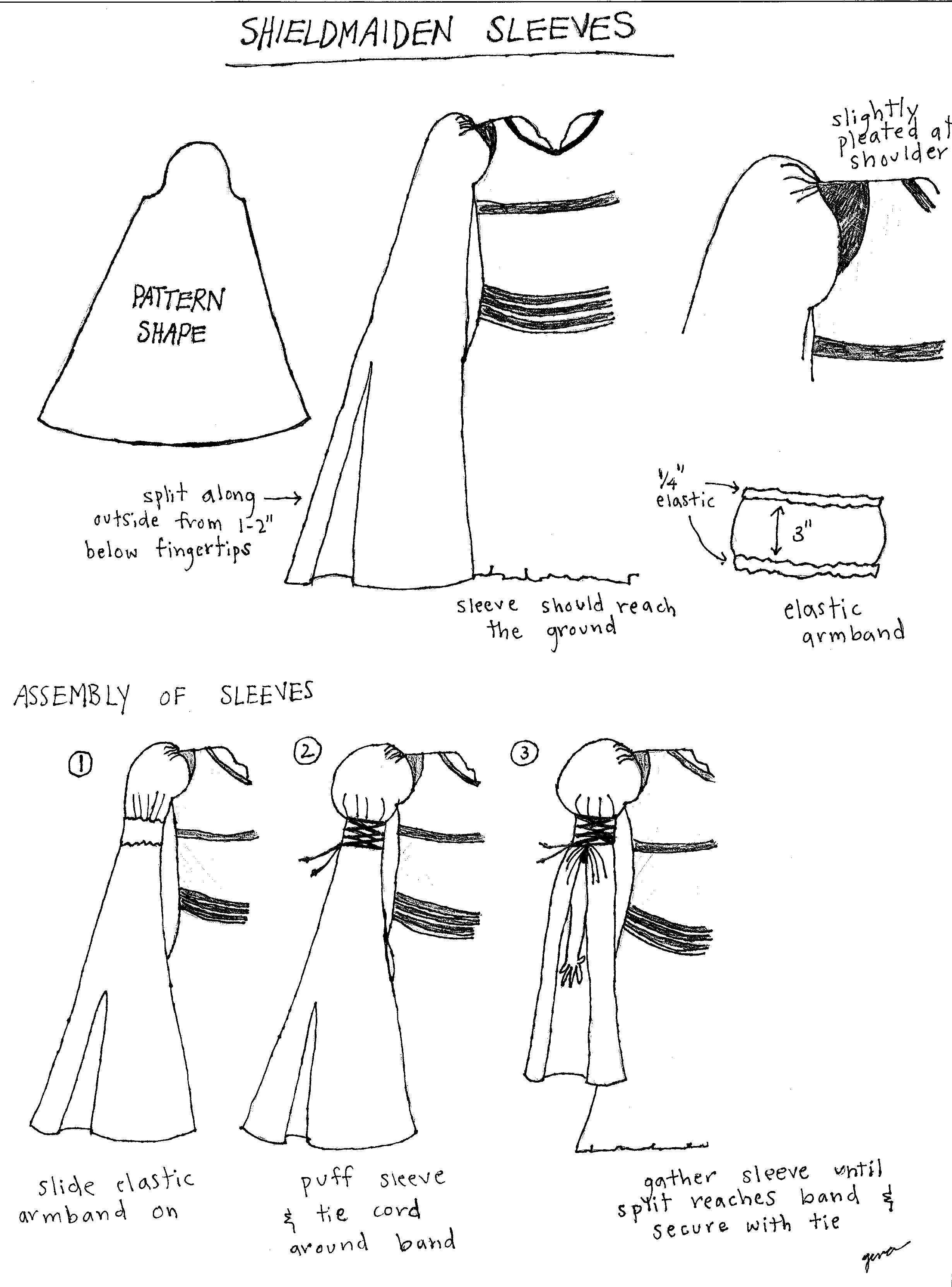 patron couture gratuit robe medievale 12   Eowyn ✨   Pinterest ...