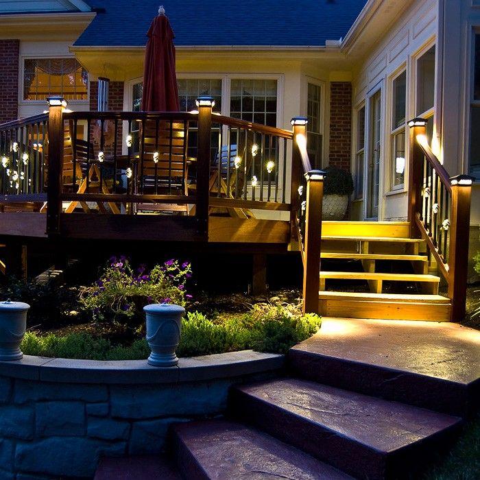 Best Square Single Basket Baluster With Led Lights Deck Lighting Deck Bali House 400 x 300