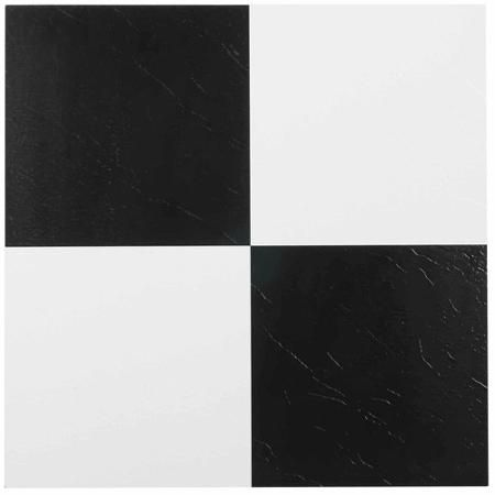 Nexus Black And White 12 X 12 Self Adhesive Vinyl Floor Tile Vinyl Flooring Vinyl Tile Peel And Stick Tile