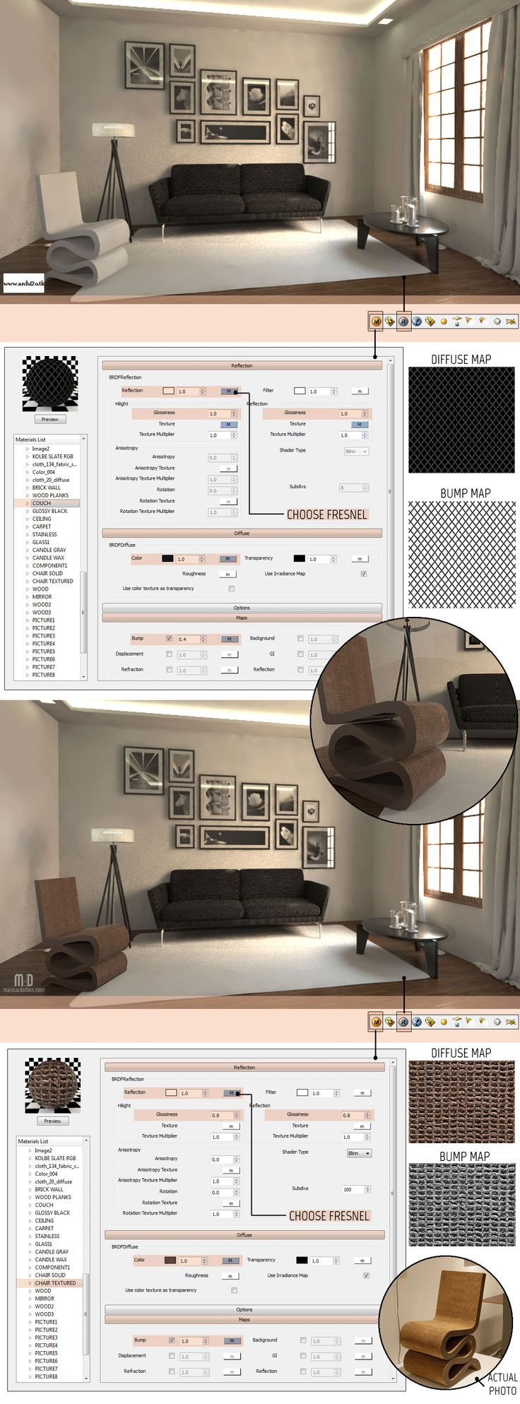 SketchUp Tutorial Part 2: VRAY MATERIALS AND TEXTURES