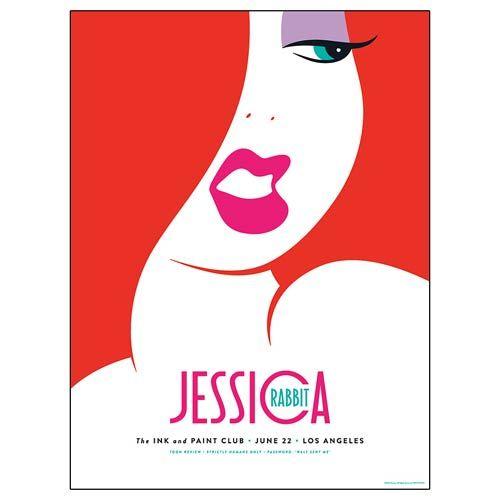 Who Framed Roger Rabbit Jessica Rabbit Silkscreen Artwork Print ...